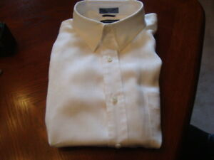 MEN'S NAUTICA  100% LINEN WHITE SHORT SLEEVE SHIRT XL