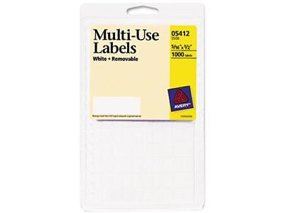 Avery 05412 Removable Multi-use Labels 516 X 12 White 1000pack