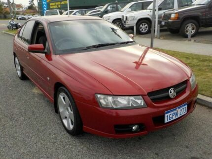 2006 Holden Commodore VZ MY06 SVZ Red 4 Speed Automatic Sedan Victoria Park Victoria Park Area Preview
