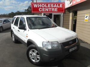 2001 Ford Escape BA XLT White 4 Speed Automatic Wagon Edgeworth Lake Macquarie Area Preview