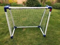 Portable, lightweight, football goal post for toddlers