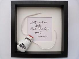 Muhammad Ali quote box frame
