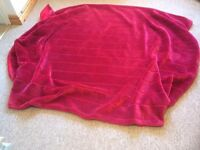 Next king size silky fur red throw