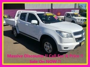 2012 Holden Colorado RG LX (4x4) White 5 Speed Manual Crew Cab Chassis Dubbo Dubbo Area Preview