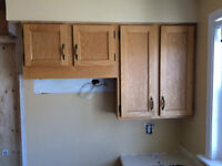 Kitchen Cabinets-all Oak Cabinets, countertop and sink