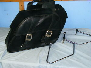 BLACK LEATHER BAGS FOR TRIUMPH