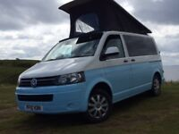 VW 2010 T5 4 Berth SWB CAMPERVAN Wild Camper Heater PopTop Roof, Solar Panel, Brand new conversion