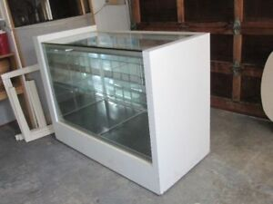 A glass display cabinet