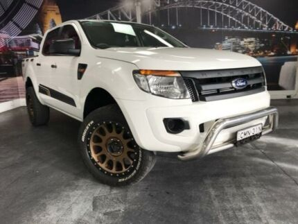 2012 Ford Ranger PX XL White 6 Speed Manual Utility Prospect Blacktown Area Preview