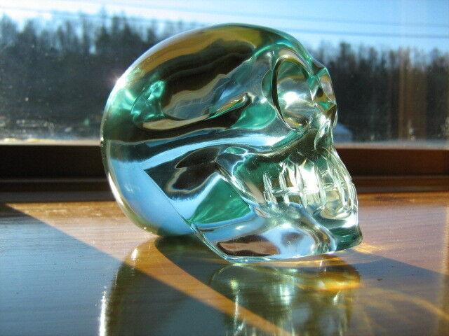 Glass Crystal Skull Carving