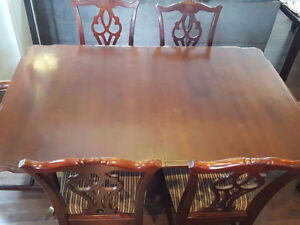 Beautiful Solid Wood Table Dining Set