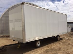New Dry freight aluminum van body only for sale 24ftx102w x102h