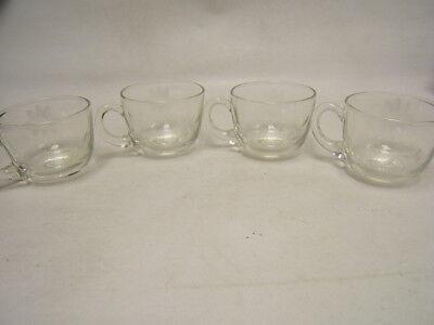 """Wheel Cut"" Vintage Lot of 4 Punch Bowl Cups 2-3/4"" diameter VGC"