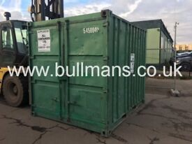 10ft shipping container - ex rental unit with original container doors