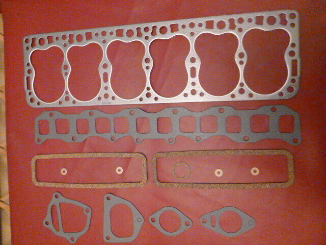 1951-54 HUDSON HORNET 308 6 CYL 13 PC VALVE GRIND GASKET SET W/BEST HEAD GASKET
