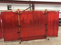 Welding Protection Screens x 15 used x 1 New