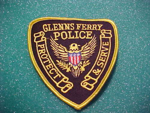 GLENNS FERRY IDAHO POLICE PATCH SHOULDER SIZE UNUSED