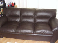 Leather couch and chair $500 OBO