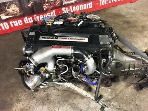 RB26DETT R33 TWIN TURBO ENGINE AWD 5 SPEED MT TRANSMISSION