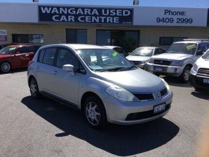2008 Nissan Tiida C11 MY07 ST Plus Grey 6 Speed Manual Hatchback Wangara Wanneroo Area Preview