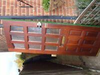 Hardwood front door 192x75.5cm