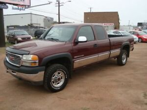 2002 GMC Sierra 2500HD SLE 4X4 LONG BOX