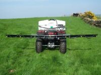 25 gallon deluxe lawn/paddock act sprayer with 10 ft boom and handgun for spot spraying. As new.
