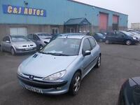 Peugeot 206 1.4HDi LX £30 A YEAR TAX SOLD WITH NEW MOT ON PURCHASE