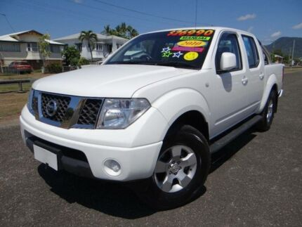 2010 Nissan Navara D40 ST (4x4) White 6 Speed Manual Dual Cab Pick-up Bungalow Cairns City Preview