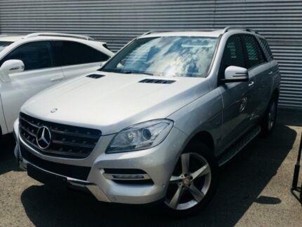 2012 Mercedes-Benz ML250 W166 BlueTEC Wagon 5dr 7G-TRONIC + 7sp 4x4 2.1DT [Mar] Iridium Silver