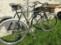 Butchers Delivery bike with basket road worthy or lovely feature