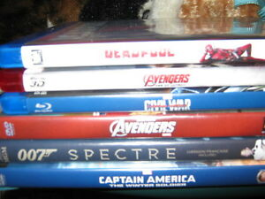 A few Blu-Rays and dvd's for sale