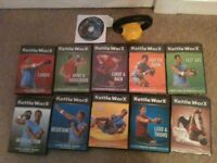 KETTLEWORX KETTLE BELL AND 10 WORKOUT DVDS