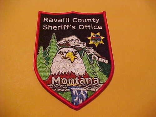 RAVALLI COUNTY MONTANA POLICE PATCH SHOULDER SIZE UNUSED