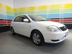 2002 Toyota Corolla ZZE122R Conquest Seca White 4 Speed Automatic Hatchback Wangara Wanneroo Area Preview