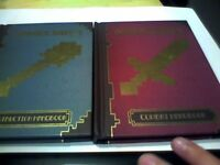 minecraft books CONSTRUCTION HANDBOOK AND COMBAT HANDBOOK SET OF 2
