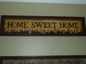 "affiche ""Home sweet home"""