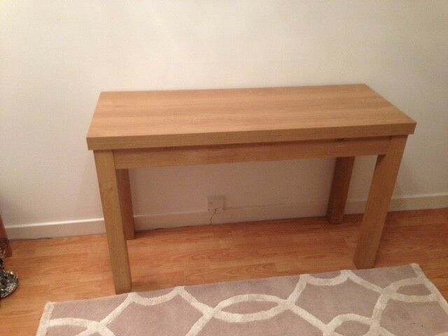 Next Oak Finish Console/Dining Table