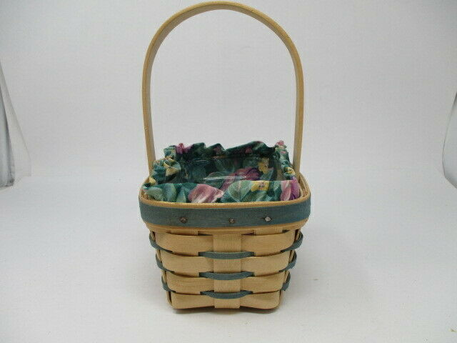 Longaberger 1992 Small Unstained Easter Basket w/ Liner and Protector