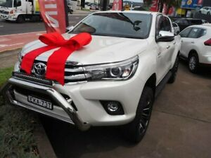 2017 Toyota Hilux GUN126R SR5 Double Cab White 6 Speed Sports Automatic Utility Brookvale Manly Area Preview