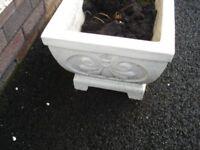 """Four only Concrete flower planters 30"""" (76cm) x 14"""" (37cm) x 11"""" (28cm)"""