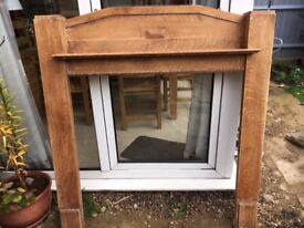 SOLID WOOD FIRE SURROUND 137 X 128 CM 1930'S - 1940'S ?