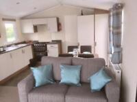 Willerby Expression luxury two bedroom spacious caravan sliding door decking