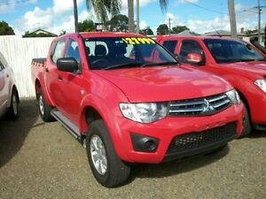 2014 Mitsubishi Triton MN MY15 GLX Double Cab Red 5 Speed Manual Utility South Grafton Clarence Valley Preview