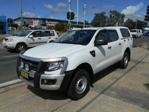 2014 Ford Ranger PX XL Double Cab White 6 Speed Sports Automatic Utility Fyshwick South Canberra Preview