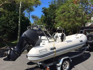 4.3m Caribe sports runabout fibreglass hull Mercury 60HP engine Chandler Brisbane South East Preview