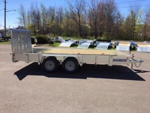 "NEW 2018 SURE-TRAC 82"" x 16' GALVANIZED LANDSCAPE TRAILER"