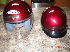 2 Ladies Size Small ZOX Motorcycle Helmets