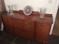 Elegant Teak Wood Side Board Dining Room Cabinet Storage