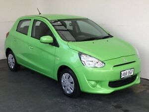 2015 Mitsubishi Mirage LA MY15 ES Green 5 Speed Manual Hatchback Mount Gambier Grant Area Preview